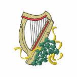 Arpa irlandesa camiseta polo bordada