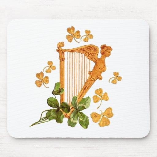 Arpa irlandesa de oro - Erin va Bragh Alfombrillas De Ratones