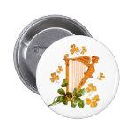 Arpa irlandesa de oro pin