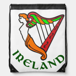 Arpa irlandesa para la mochila del lazo