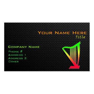 Arpa lisa tarjeta de visita