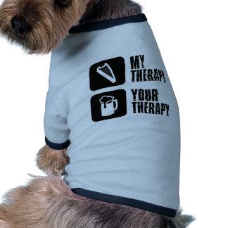 Arpa medieval mi terapia camisetas de perrito