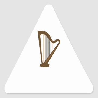 Arpa Pegatina Triangular