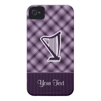 Arpa púrpura iPhone 4 Case-Mate fundas