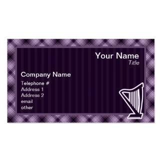 Arpa púrpura plantillas de tarjetas de visita