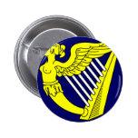 Arpa virginal coa alas azul, bandera de Irlanda Pin