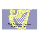 Arpa virginal coa alas azul, bandera de Irlanda Tarjetas De Visita