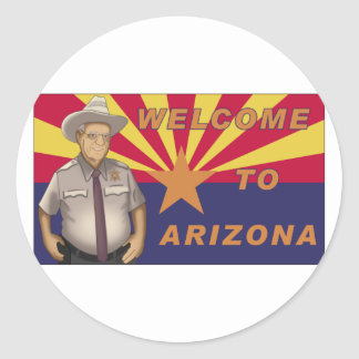 Arpaio: Recepción a Arizona Pegatina Redonda