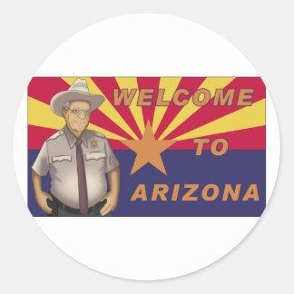 Arpaio: Welcome to Arizona Classic Round Sticker