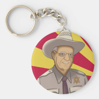 Arpaio: Welcome to Arizona Basic Round Button Keychain