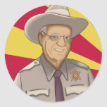 Arpaio: Welcome to Arizona Round Sticker