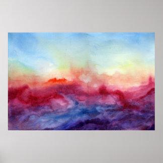 Arpeggi Watercolor Art Print Poster