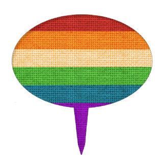 Arpillera del arco iris de LGBT Figura Para Tarta