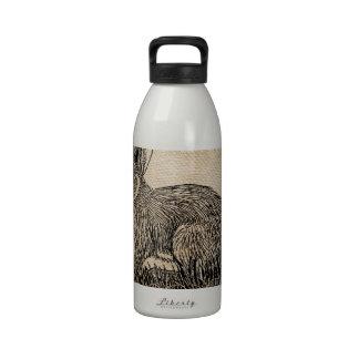 Arpillera del conejo de conejito botella de agua