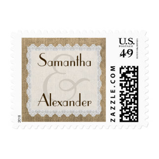 Arpillera elegante y diseño personalizado cordón sellos