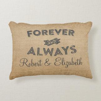 Arpillera para siempre y siempre casandose