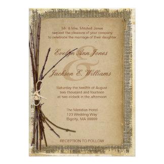 Arpillera ramitas y boda de la guita comunicado personalizado