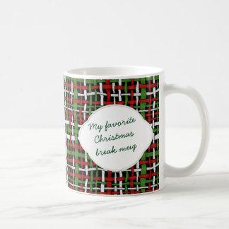 Arpillera tejida gráfica del navidad cualquier taza clásica