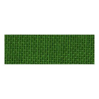 Arpillera verde del navidad tarjetas de visita mini