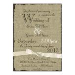 Arpillera y boda rústico de los arcos invitacion personalizada