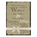 Arpillera y boda rústico de los arcos invitacion personal
