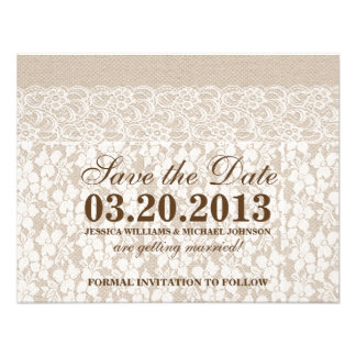 Arpillera y reserva del cordón el la fecha anuncios personalizados