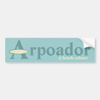 Arpoador RJ beach culture Bumper Stickers