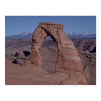 arquea el arco del parque nacional en el lado del  tarjeta postal