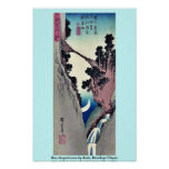 Arquee la luna formada por Ando, Hiroshige Ukiyoe Impresiones