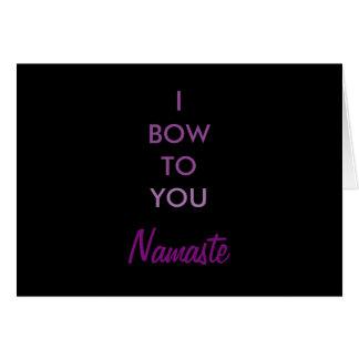 Arqueo a usted, inspirado púrpura negro de Namaste Tarjeta De Felicitación