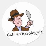 ¿Arqueología conseguida? Pegatinas Pegatina Redonda