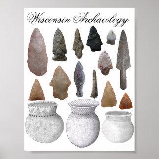 Arqueología de Wisconsin Póster