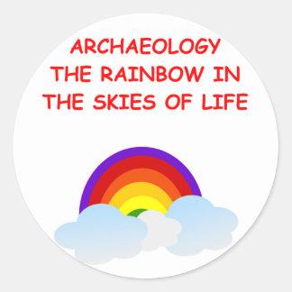 arqueología etiquetas redondas