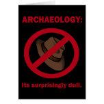 Arqueología, tarjeta de felicitación