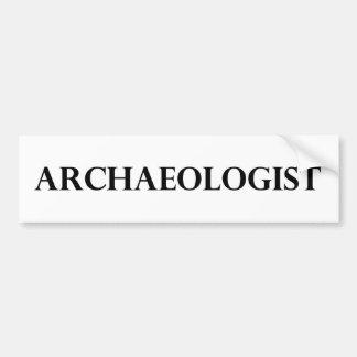 Arqueólogo Etiqueta De Parachoque