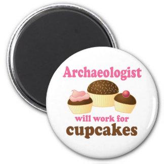 Arqueólogo divertido imán para frigorifico
