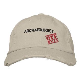 Arqueólogo fuera de servicio gorras bordadas