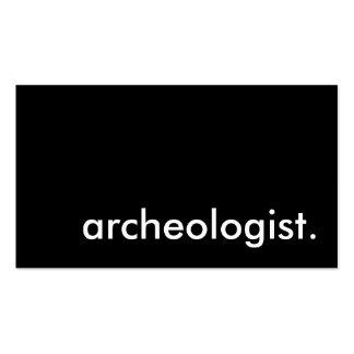 arqueólogo tarjetas de visita