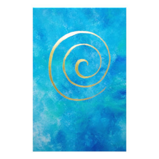 Arquero espiral de oro de Philip del infinito azul Papeleria