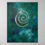 Arquero espiral de oro de Philip del infinito de c Poster