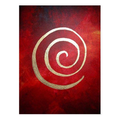 "Arquero espiral de oro de Philip del infinito ""de Postal"