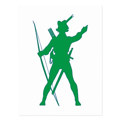 Arquero Geächteter archer outlaw Tarjeta Postal