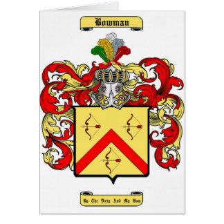 arquero tarjeta de felicitación