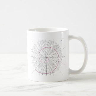 arquimedes espiral dextrogira classic white coffee mug