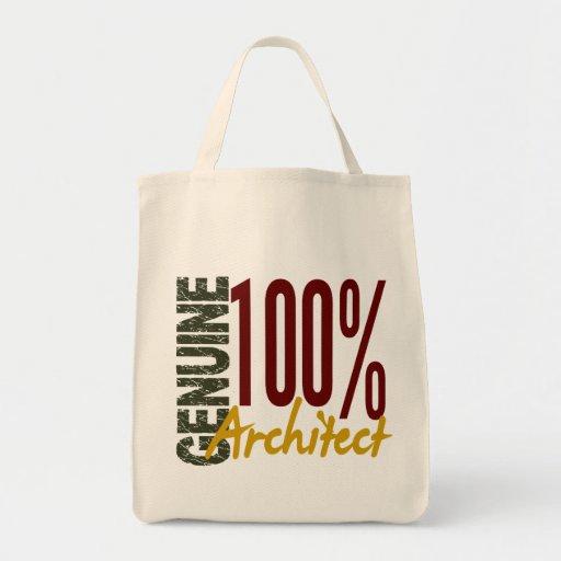 Arquitecto auténtico bolsa tela para la compra