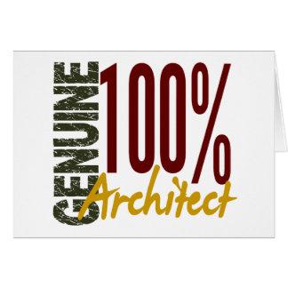 Arquitecto auténtico tarjeta de felicitación