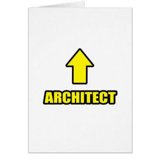 Arquitecto de la flecha tarjeta de felicitación