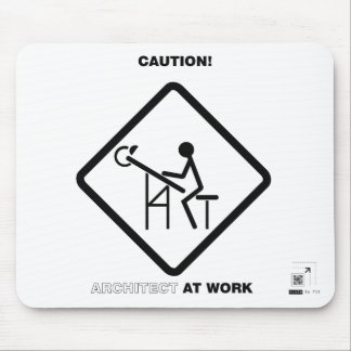 Arquitecto de la precaución en el trabajo tapete de raton