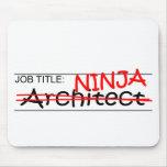 Arquitecto de Ninja del cargo Alfombrillas De Ratones