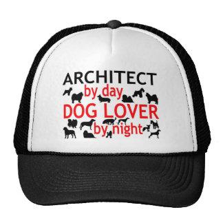 Arquitecto del amante del perro del día por noche gorras de camionero